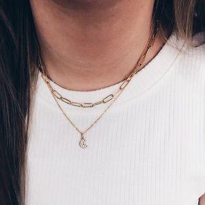 18K Gold Filled Crescent Moon Necklace